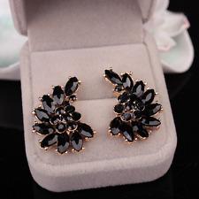 Elegant Women Crystal Angel Wing Flower Moon Ear Stud Earrings Fashion Jewelry