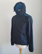 Superdry M Medium The WindCheater Womens Ladies Jacket Black Blue Lining VGC