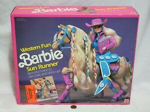 NEW Western Fun Barbie SUN RUNNER Dream Horse 1989 SEALED Animal Toy Figure