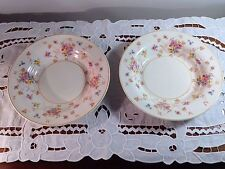 "Vintage American Limoges ""New Princess"" Candle Light Rimmed Soup Bowls 4LC360"