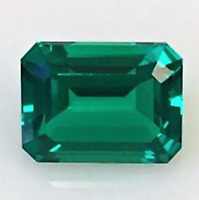 Lab-Created Synthetic Emerald Green Nano Crystal Octagon Loose Stones(5x3-40x30)