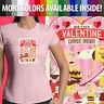 Peanuts Be My Valentine Charlie Brown Snoopy Love Women Juniors Tee T-Shirt S-2x
