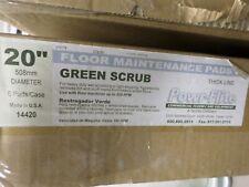Powr-Flite 20-Inch Diameter Scrubbing Floor Pads Green Case of 5 Thick Line
