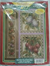 "FRUIT BELL PULL Teresa Wentzler Just Cross Stitch Kit #41171  5.5"" x 30.5"""