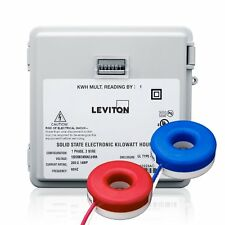 Leviton MO240-2SW Mini-Meter Kit w/ Outdoor Enclosure, 240V & 200A Solid-Core CT