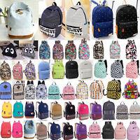 Boys Girls Retro Backpack Rucksack School College Travel Laptop Work Bag Unisex