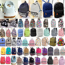 Boys Girls Retro Backpack Rucksack School College Travel Laptop Work Bag Unisex