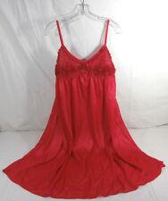 LATI FASHION XL Red Womens Spaguetti Strap Nightgown 100% Polyester New