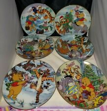 Lot of Disney's Winnie The Pooh Christmas Plates Bradford Exchange Tigger Piglet