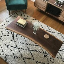 Live edge coffee table - Walnut, Maple, White Oak