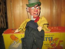 RARE W/BOX Alice In Wonderland The Mad Hatter Marionette 1950s