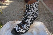 Derek Lam 10 Crosby Inga Lace-Up Calf Hair Sandals Size [8]