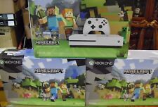 NEW Microsoft Xbox One S Minecraft Favorites Bundle 500GB White Console 4K HD