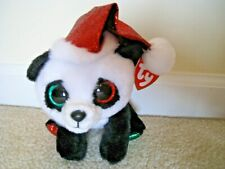 """Ty,Pandy Claus- Claire's exclusive 6"""" tall,2019 Panda Bear Boo Release.WHIMSICAL"""