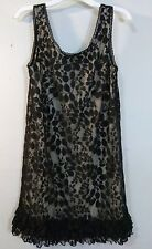 Juniors Charlotte Russe Black Lace overlay Dress size Small lined Sleeveless
