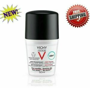 Vichy Homme Deodorant Anti-Stains 48H Sensitive Skin Roll-On 50ml