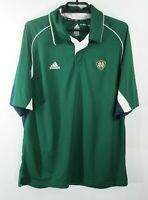 Adidas Climacool Notre Dame Irish Polo Mens Sz L Shirt Green Short Sleeve