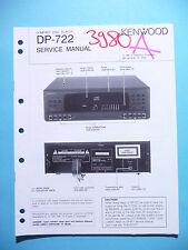 Manuel de reparation pour Kenwood dp-720, original