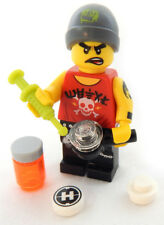 NEW LEGO MALE DRUG ADDICT MINIFIG junkie figure minifigure toy girl woman