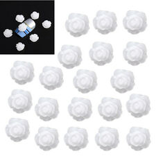 20x Acrylic 3D White Flowers Nail Art Tips UV Gel DIY Decoration AD