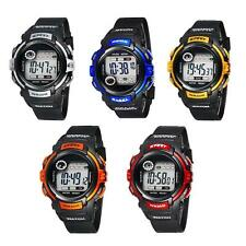 New Unisex Watch Fashion Electronic Resin Sports Waterproof For Students Kids FT