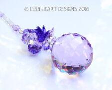 m/w Swarovski 40mm Violet *Floating Lotus Ball* Suncatcher Lilli Heart Designs