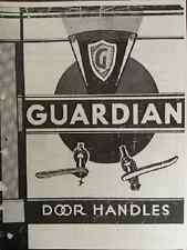 1920s to 1936 Guardian ILLUSTRATED IDENTIFICATION Door Handle Catalog