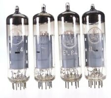 4x EL84 = 6BQ5 Valvo matched quad Röhre tube Valvola tested #3614
