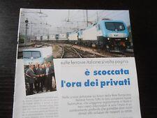 NUOVE LOCOMOTIVE IN TESTA A TRENI MERCE INTERMODALI FERROVIE ITALIANE RTC TAURUS