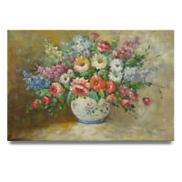 NY Art - Stunning Impressionist Floral Arrangement 24x36 Oil Painting on Canvas!