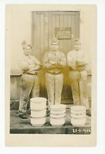 Soldats Francais RPPC Antique French Militaire WWI Vaisselles Photo CPA 1910s