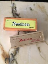 Dominoes- Set Of 28- Double Six-wooden Box