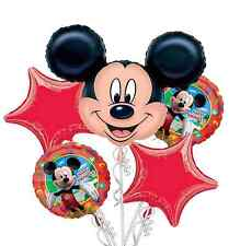 Mickey Mouse Balloon Bouquet 5pc - Birthday Party Decorations Favor Supplies