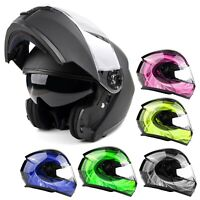 Modular Helmet Flip Up Motorcycle Adult DOT Integrated Sun Visor