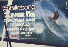 Billabong 2004 Surf Tommy O'brien Sebastian Inlet Poster Excellent New Old Stock