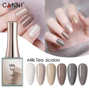 CANNI UV Nail Gel Polish MILK TEA SERIES Nude Grey Varnish Soak Off LED 16ML