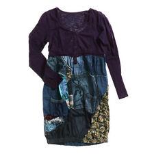 Damenkleider mit V-Ausschnitt aus Baumwollmischung in Größe 40