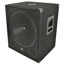 "QTX Sound QT18SA 18"" Active Powered Subwoofer 1000W Disco DJ Sub Bass Bin SINGLE"