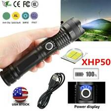 350000LM High Power xhp 50 Zoom Flashlight Torch Rechargeable LED Bulb Light US