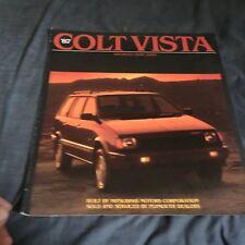 1987 Dodge Colt Vista by Mitsubishi Color Brochure Catalog Prospekt