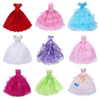 9PCS Handmade Doll Dress Wedding Party Princess Clothes Outfit for 12in.