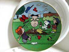 SNOOPY PEANUTS CHARLIE BROWN DANBURY MINT PORCELAIN MAGIC MOMENTS PLATE 1988