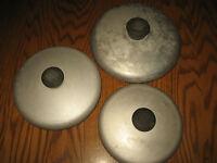 """3 WEAR EVER Aluminum 5 3/4"""", 6 1/2"""" & 7 3/8"""" Pot/Pan LIDS, Cookware TOPS"""