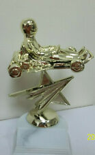"""Go-Kart award trophy, comes with engraving, about 6.5"""" high, open- no cage"""
