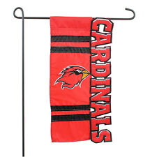 Lamar University Cardinals Sculptured Applique Garden Flag NCAA College Sports