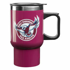NRL Manly Sea Eagles Stainless Steel Thermal Insulated Travel Coffee Mug
