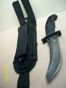 2000's~SPYDERCO~WARRIOR H1~UNUSED~HIGH END TACTICAL COMBAT KNIFE w/ORIG. SHEATH~