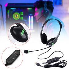 USB Headset Kopfhörer PC Laptop Headphone mit Mikrofon Office Business-Headset