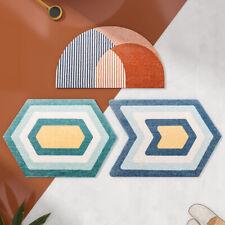 Geometric Shape Home Bedroom Bathroom Door Mat Absorbent Non-slip Foot Pad
