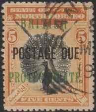 NORTH BORNEO 1902 BP POSTAGE DUE 5c PHEASANT -BIRD USED. CAT RM 17.50
